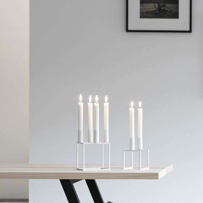 Candelabro Portacandele Line By Lasses bianco