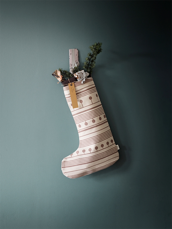 Calza di Natale Winterland Christmas Stocking di Ferm Living rosa 2