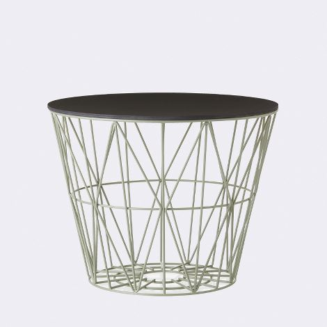 Cesto WIRE BASKET MEDIO di Ferm Living con top