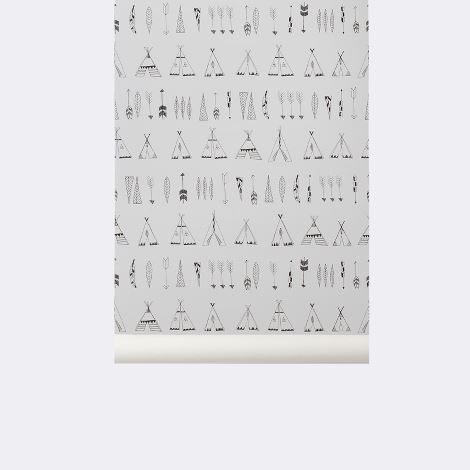 carta da parati_Native wallpaper_Ferm living Kids