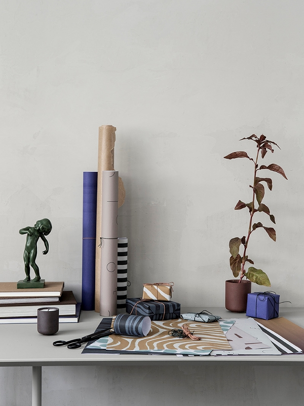 GIFT WRAPPING BOOK Ferm Living - Xmas - Elementi Home