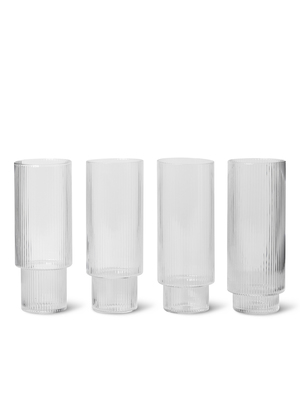 ripple long drink glasses set of 4 ferm living