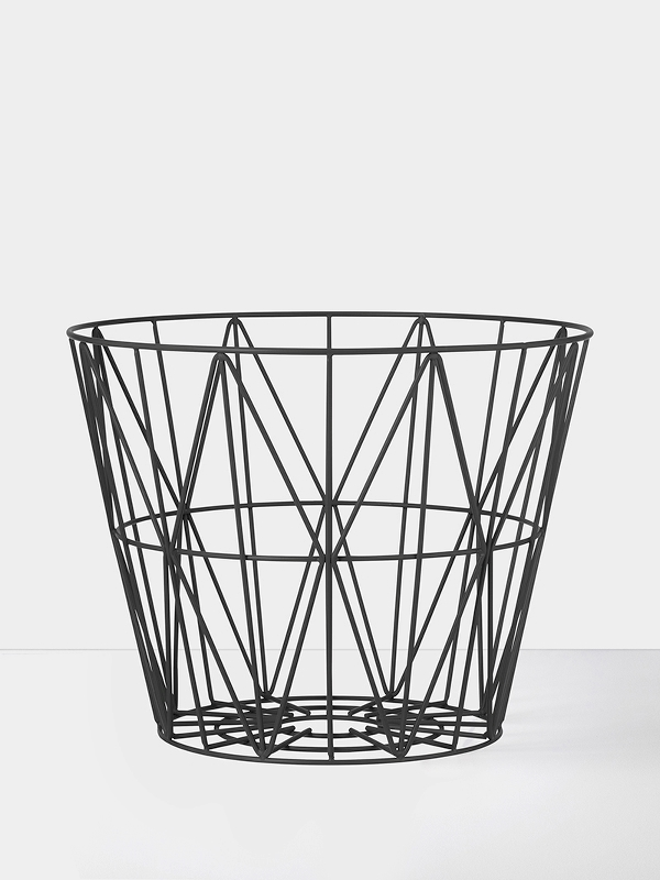Wire basket nero