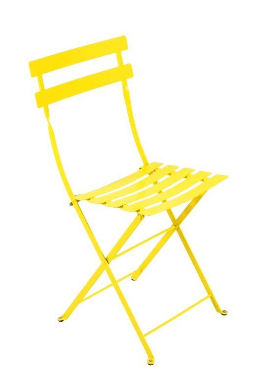 Arredo giardino fermob sedia in metallo pieghevole di vari for Sedia ufficio gialla