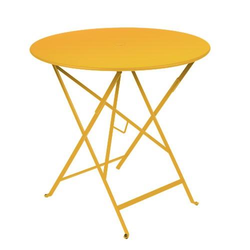 tavolo rotondo in metallo pieghevole fermob bistro. Black Bedroom Furniture Sets. Home Design Ideas