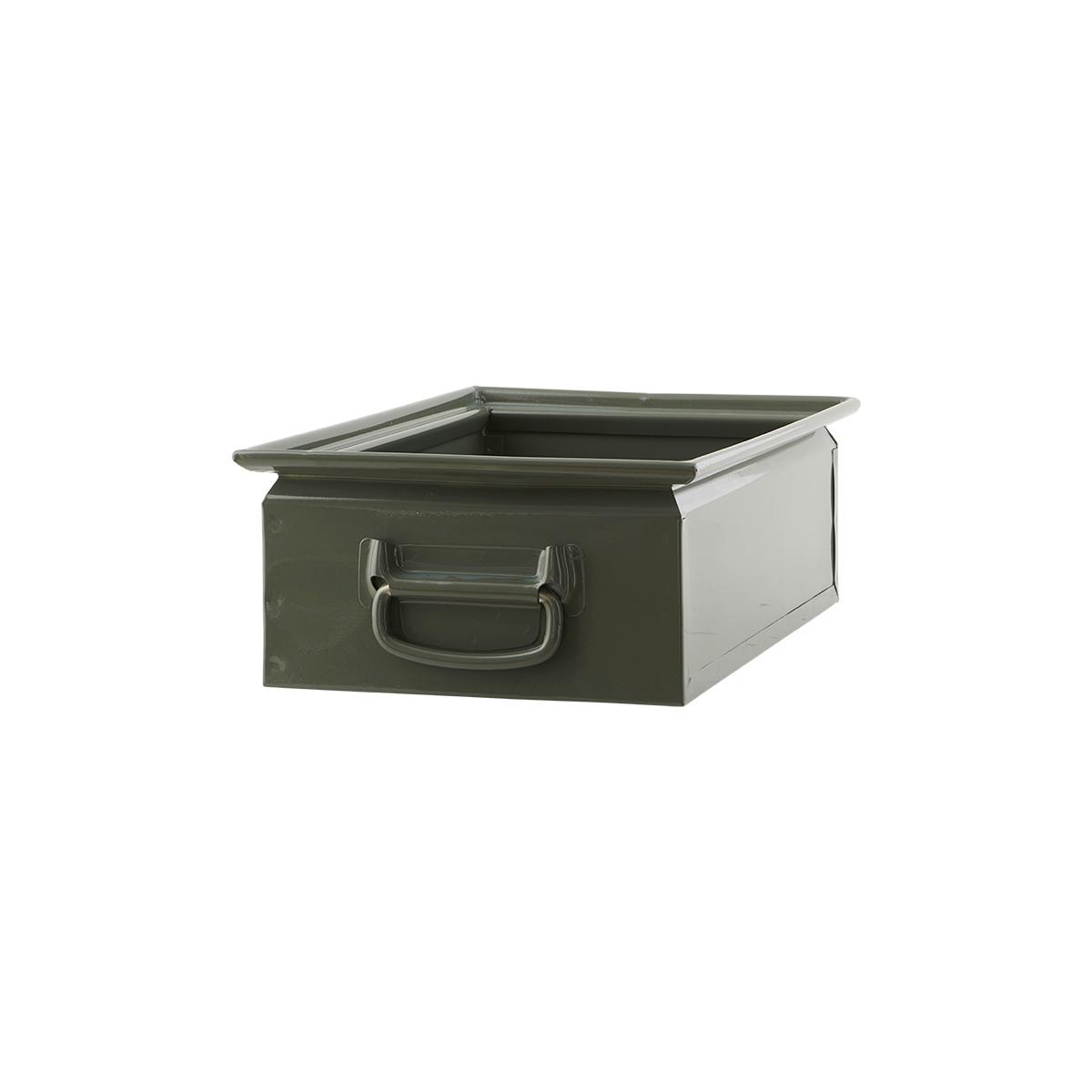 storage box 2 army green 30x45x15cm house doctor su. Black Bedroom Furniture Sets. Home Design Ideas