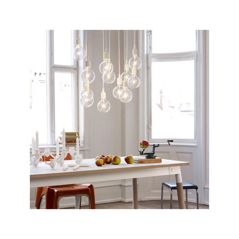 Muuto E27 Pendant Lamp / Yellow / LED bulb - giallo