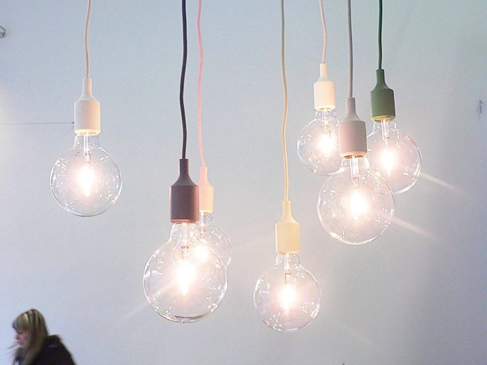 Illuminazione Camera Da Letto Scelta Sospensioni : Muuto lampada a sospensione e27 gialla