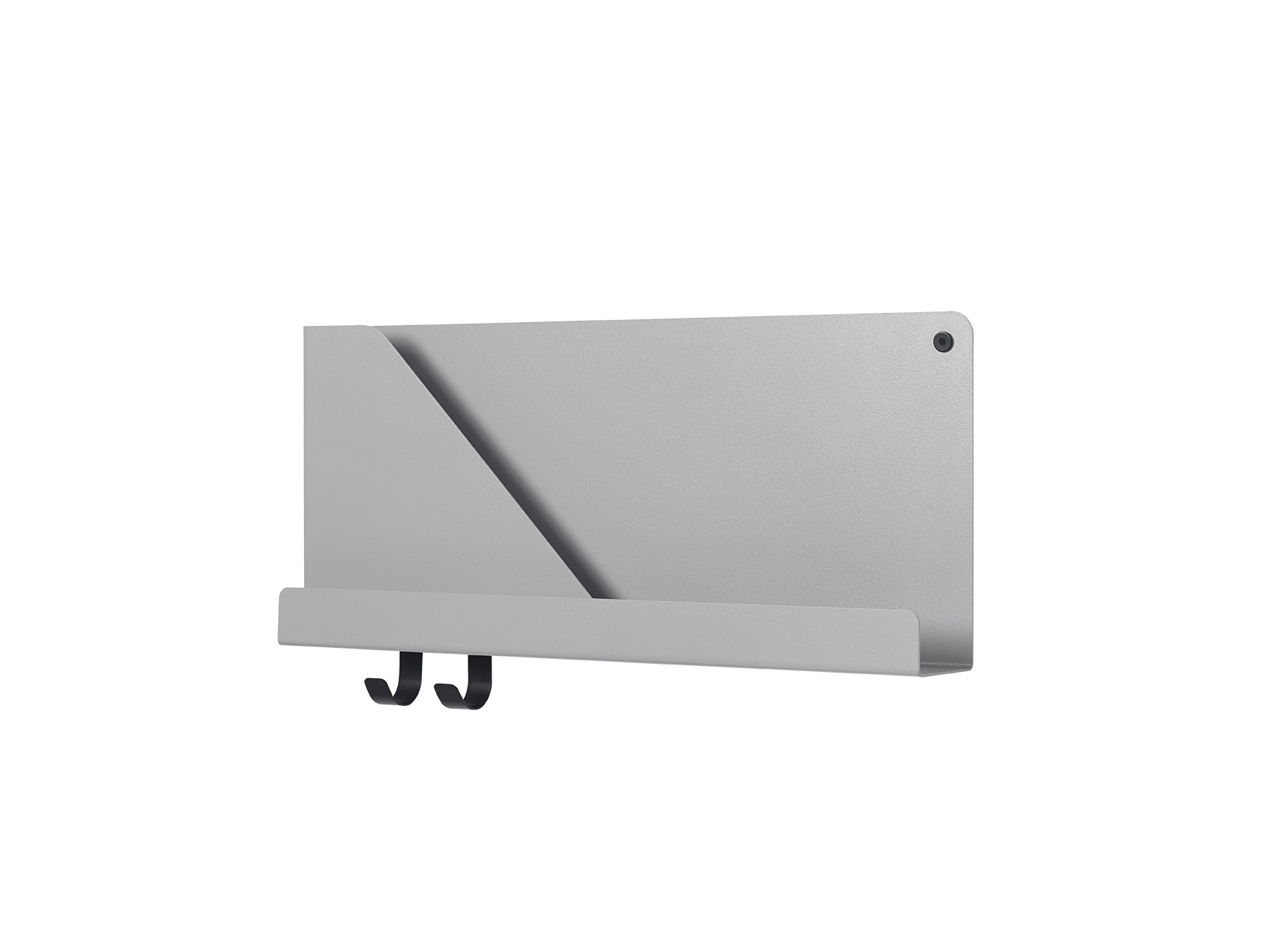 Mensola FOLDED SHELVES_Small_Grey_Muuto
