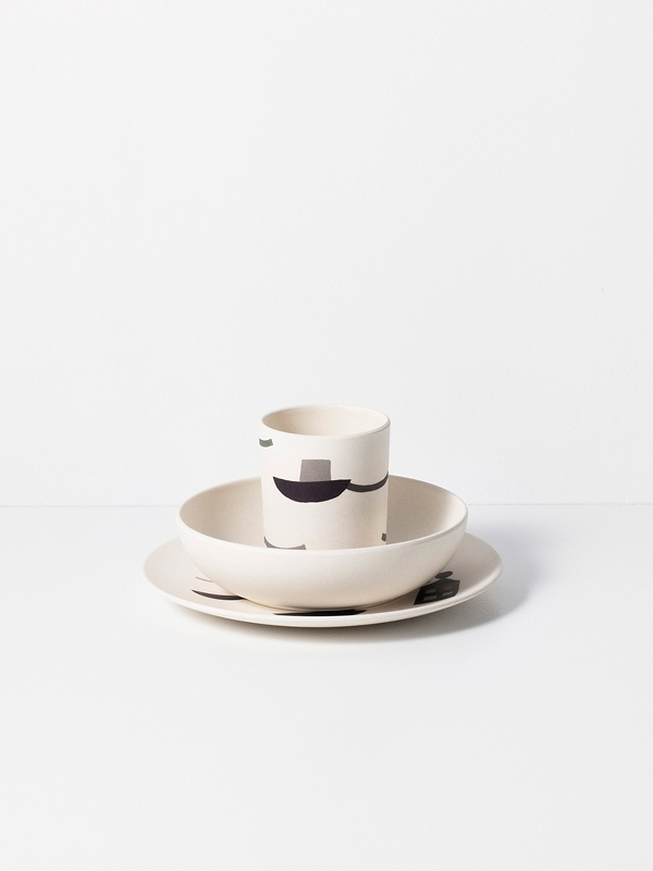 set da tavolo Seaside Bamboo Dinner Set di Ferm Living 3