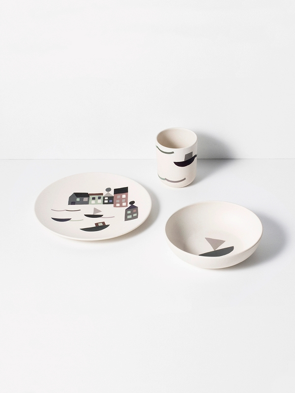 set da tavolo Seaside Bamboo Dinner Set di Ferm Living