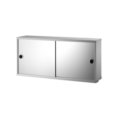 CABINET WITH MIRROR DOORS_GREY_STRING