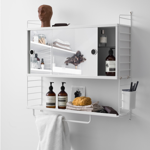 CABINET WITH MIRROR DOORS_STRING
