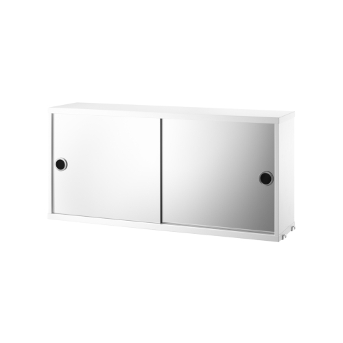 CABINET WITH MIRROR DOORS_WHITE_STRING