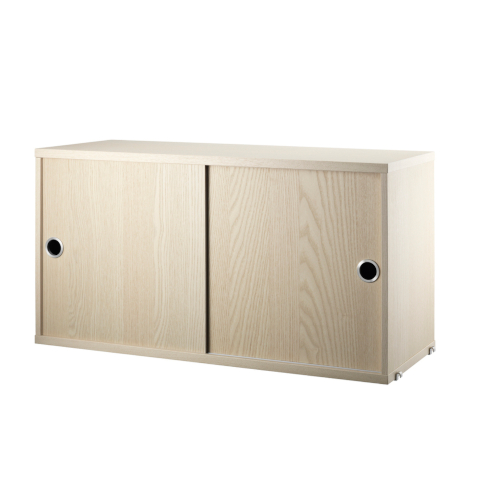 CABINET WITH SLIDING DOORS_ASH_STRING