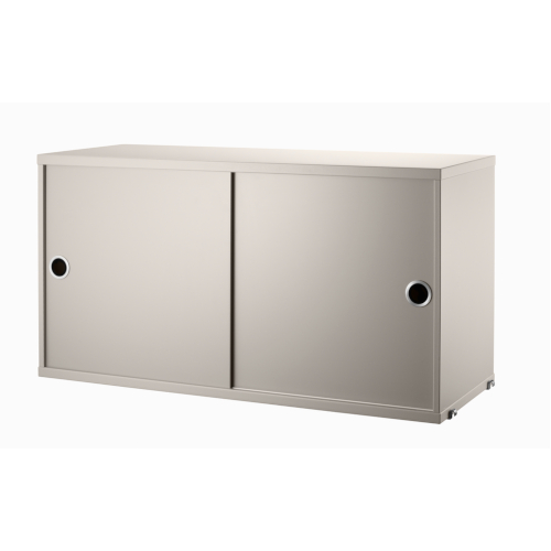 CABINET WITH SLIDING DOORS_BEIGE_STRING