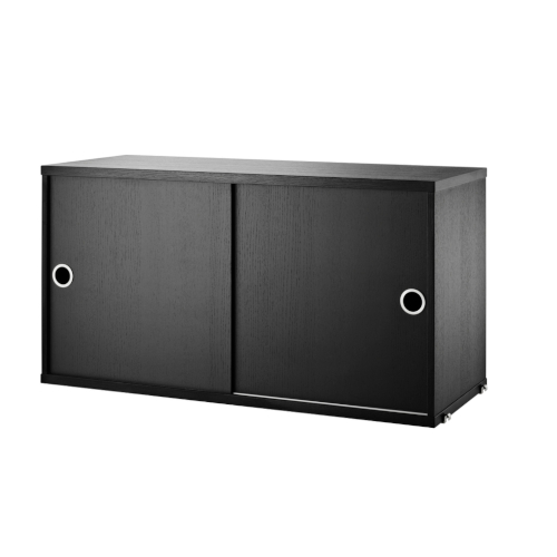 CABINET WITH SLIDING DOORS_BLACK_STRING