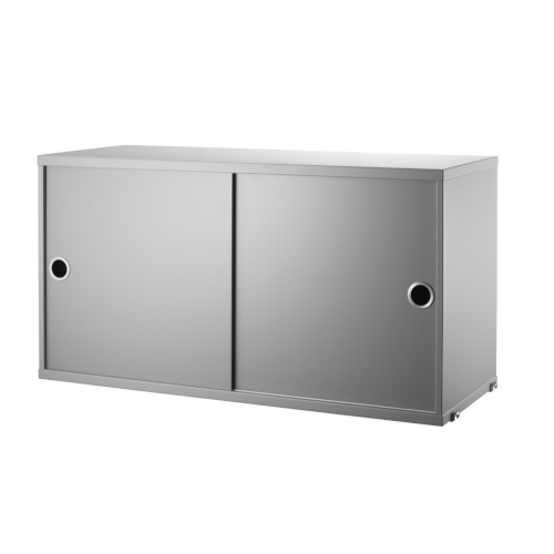 CABINET WITH SLIDING DOORS_GREY_STRING