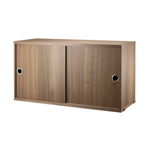 CABINET WITH SLIDING DOORS_WALNUT_STRING