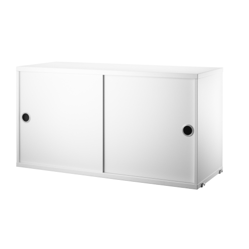 CABINET WITH SLIDING DOORS_WHITE_STRING