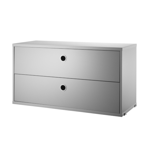 CHEST WITH DRAWERS_GREY_STRING