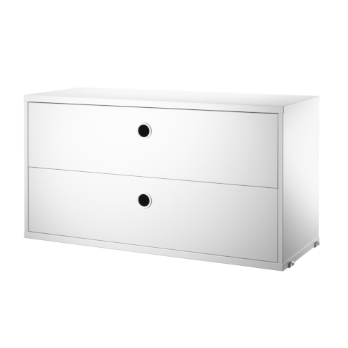 CHEST WITH DRAWERS_WHITE_STRING