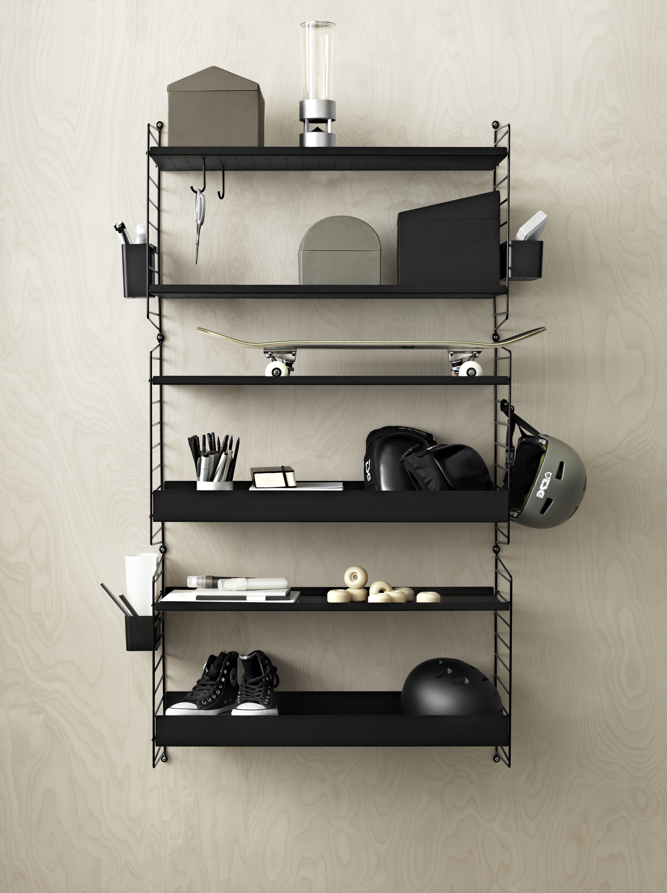 STRING METAL SHELVES BLACK