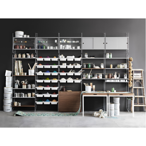 STRING SHELF SYSTEM GREY-GREY