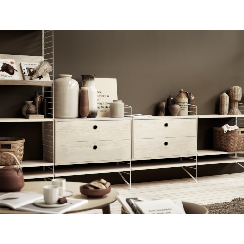 STRING SYSTEM ASH-WHITE_CHEST WITH DRAWERS