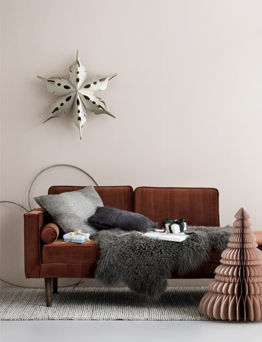 Broste Cph_Christmas Collection_Deco Star XL_Wood antique silver_Tree Paper Dusty Pink