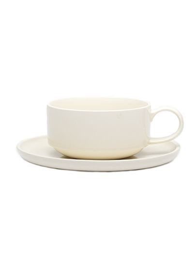 JC1257 CUP AND SAUCER LOOP WHITE