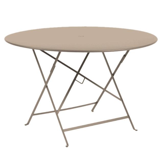 Tavolo Rotondo Per 6 Persone In Metallo Pieghevole